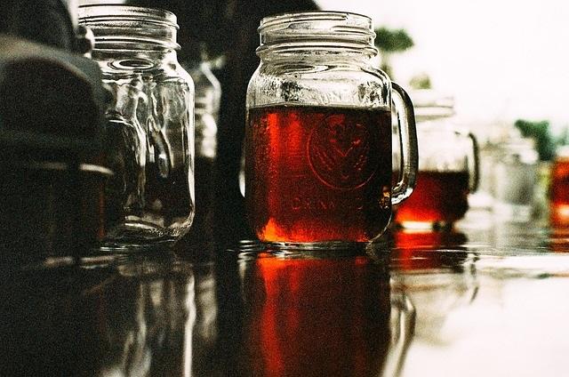 craft beer in a mason jar image